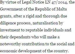 acheter passeport Malte